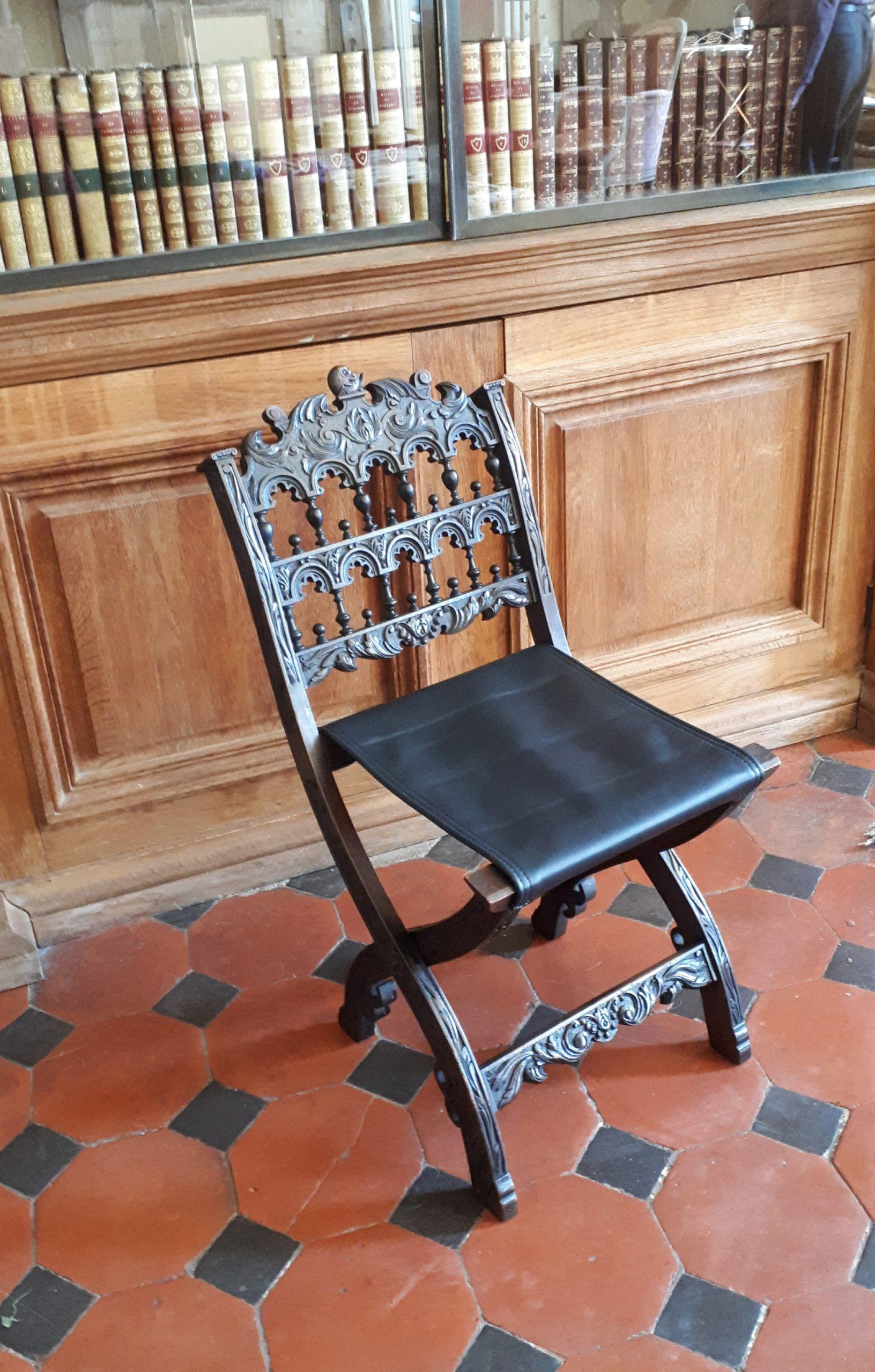 Chaise pliante pour enfant XVIème